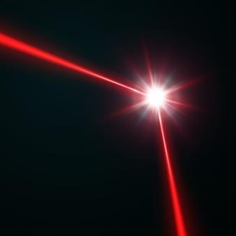 Faisceau laser rouge, illustration