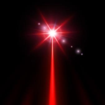 Faisceau laser rouge
