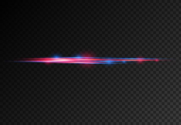 Faisceaux laser, rayons lumineux horizontaux.
