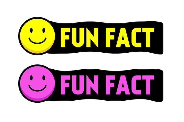 Fait amusant sourire visage vecteur plat style cartoon isolé sur fond blanc saviez-vous message