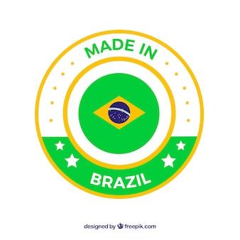 Fait dans l'étiquette du brésil