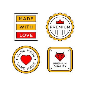 Fait à la main avec étiquette de timbre de lettrage d'amour.