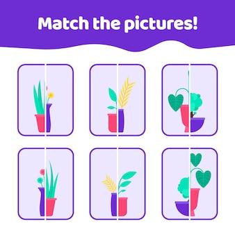 Faites correspondre le jeu d'images pour les enfants