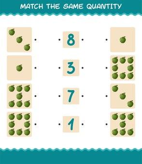Faites correspondre la même quantité de pomme à la crème. jeu de comptage. jeu éducatif pour les enfants et les tout-petits de la pré-école