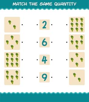 Faites correspondre la même quantité de raisin blanc. jeu de comptage. jeu éducatif pour les enfants et les tout-petits de la pré-école
