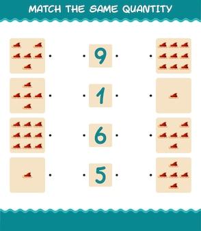 Faites correspondre la même quantité de traîneau du père noël. jeu de comptage. jeu éducatif pour les enfants et les tout-petits de la maternelle