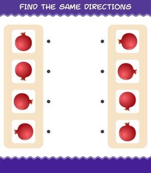 Faites correspondre les mêmes directions de grenade. jeu de correspondance. jeu éducatif pour les enfants et les tout-petits de la maternelle