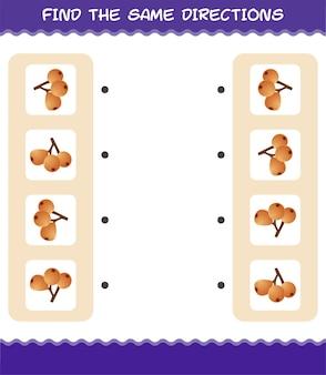 Faites correspondre les mêmes directions de nèfle. jeu de correspondance. jeu éducatif pour les enfants et les tout-petits de la maternelle