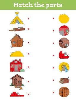 Faites correspondre la pièce. jeu éducatif pour les enfants