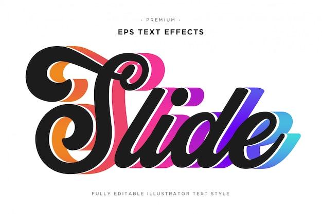 Faites glisser l'effet de texte 3d - style de texte 3d