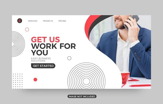 Faites-nous travailler des modèles de pages de destination pour les entreprises