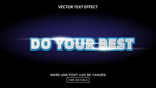 Faites votre meilleur modèle d'effet de texte modifiable en 3d