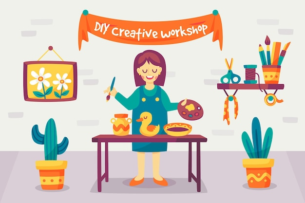 Faites-le vous-même atelier d'artisanat et de peinture