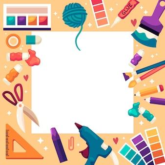 Faites-le vous-même espace de copie d'atelier créatif