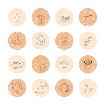 Faits saillants instagram dessinés à la main