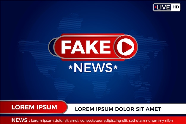 Fake news sur la carte du monde en direct