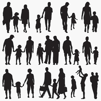 Famille 2 silhouettes