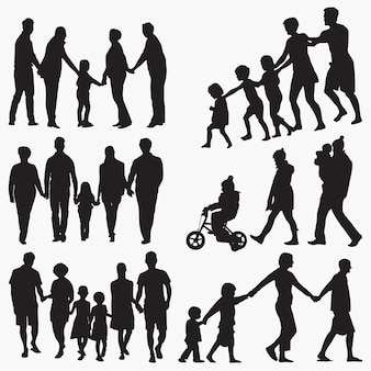 Famille 3 silhouettes
