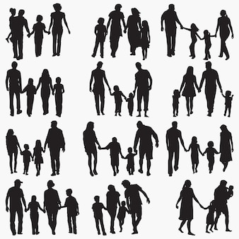 Famille 4 silhouettes