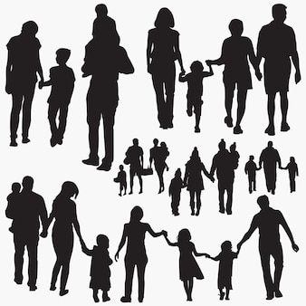 Famille 5 silhouettes