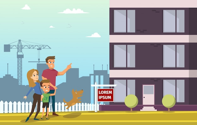 Famille achat immobilier maison