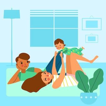 Famille, apprécier, temps, ensemble, concept
