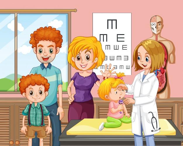 Une famille et un bébé un hôpital
