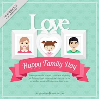 Famille day background avec des cadres photo