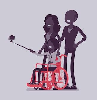 Famille avec un enfant handicapé