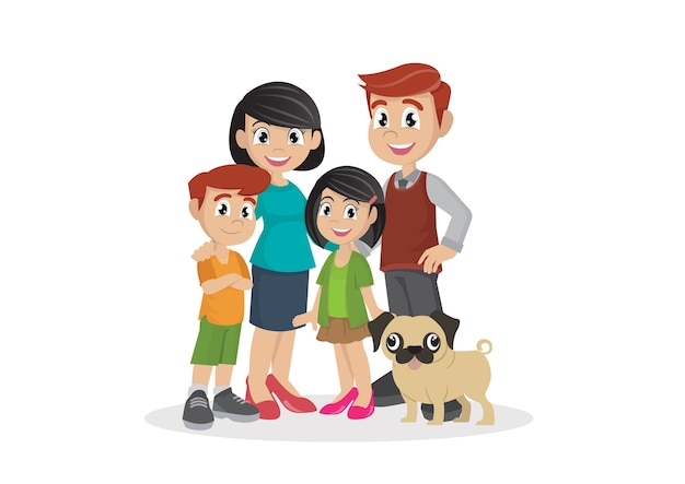 Famille avec enfants.