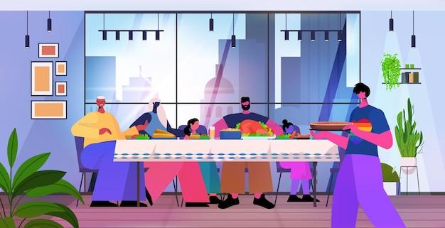 Famille gay avec parents et petits enfants en train de déjeuner transgenre amour cuisine concept communauté lgbt