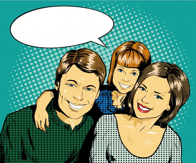 Famille heureuse avec enfant
