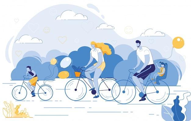 Famille heureuse mode de vie sain, activité sportive