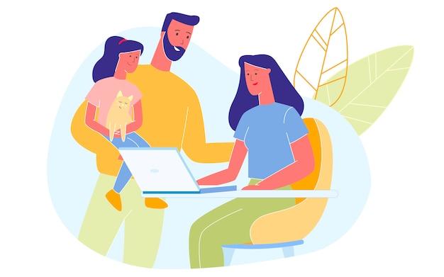 Famille heureuse passer du temps ensemble à la maison, l'amour