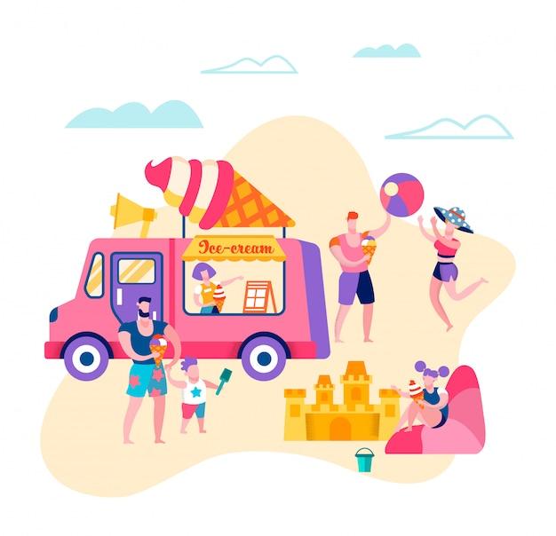 Famille heureuse vacances d'été, week-end, détente