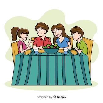 Famille manger