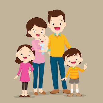 Famille mignonne avec bébé