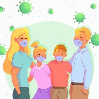 Famille protégée contre les virus
