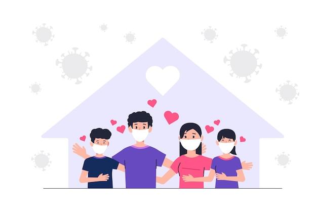 Famille protégée du concept de virus