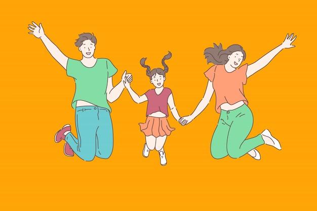 Famille, relations, concept de loisir