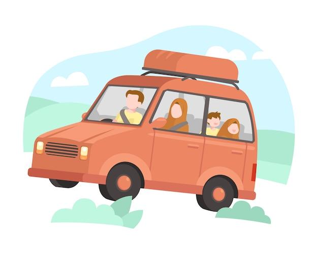 Les familles musulmanes partent en vacances en voiture