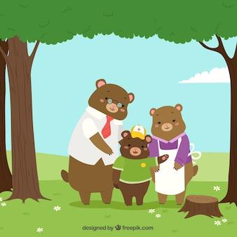 Family bear ackground