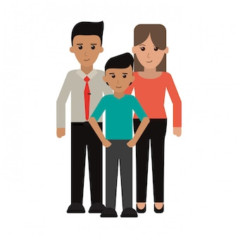 Family executive parents avec fils