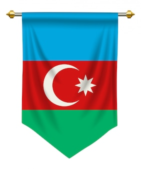 Fanion d'azerbaïdjan