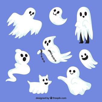 Fantasmes de halloween avec un style effrayant