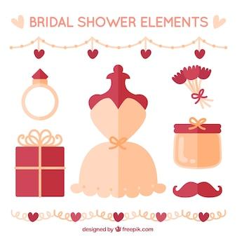 Fantastique éléments de douche de mariage