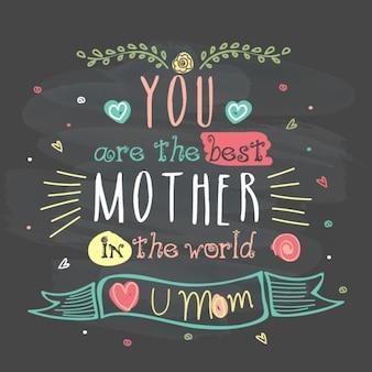 Fantastique fond de lettrage pour la fête des mères