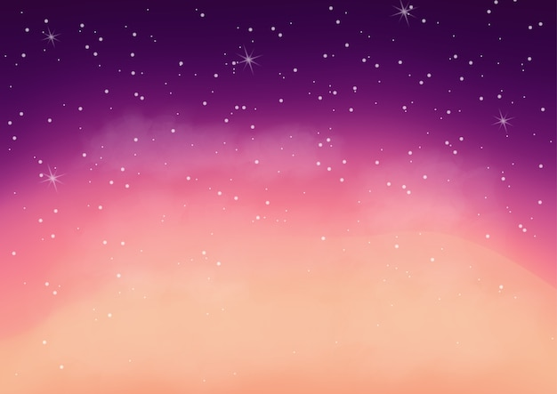 Fantastique galaxie colorée, fond cosmique abstrait