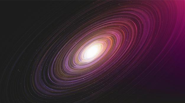 Fantastique interstella rougeoyante sur galaxy