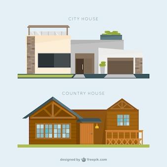 Fantastique maison de ville et maison de campagne